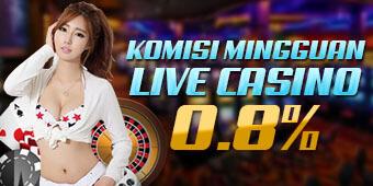 Komisi Mingguan Live Casino